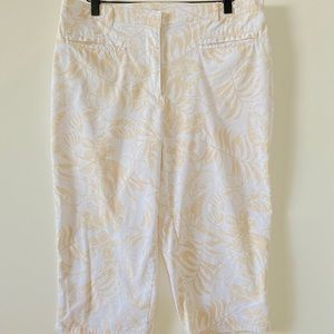 Coral Bay Palm Tree Capris Pants, Size 12